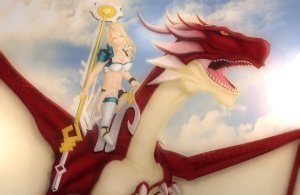 Lucy and Dragon Natsu