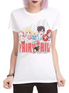 Have your own Chibi Fairy Tail Pool Party on your shirt for $19.60 from HotTopic.com.